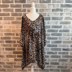 Swim Suits For All Leopard Coverup Size 26/28